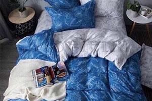 Сине-белое постельное белье