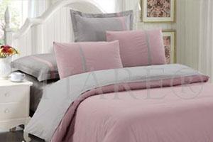 Бледно-розовая постельное белье сатин