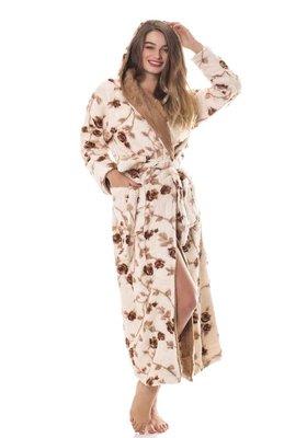 махровий жіночий халат з кишенями