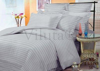 Комплект постельного белья серый в полоску